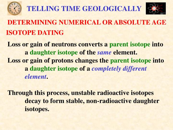 TELLING TIME GEOLOGICALLY