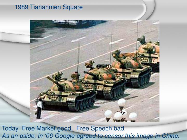 1989 Tiananmen Square