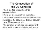 the composition of the us congress
