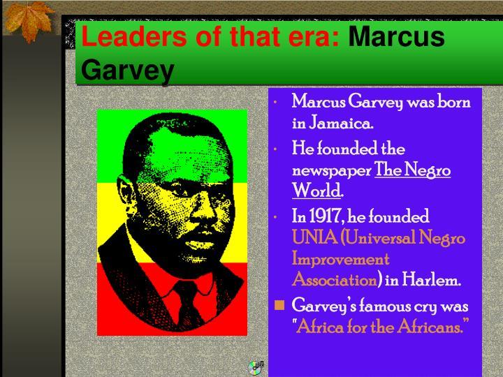 a description of marcus garvey born in jamaica