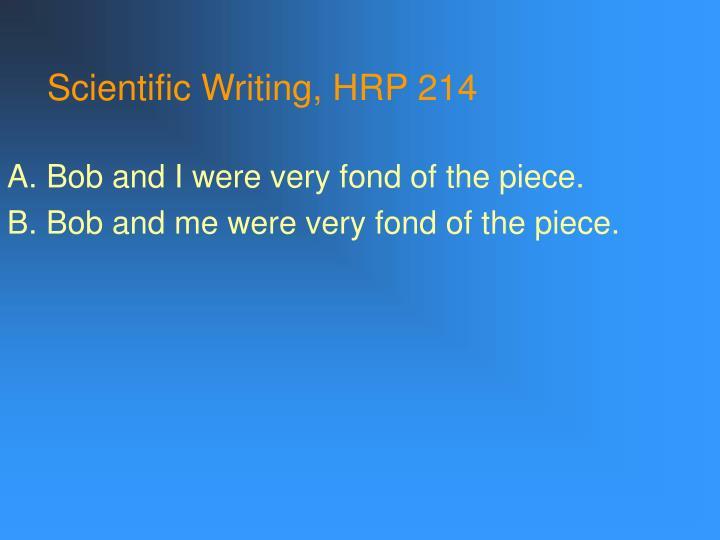 scientific writing hrp 214 n.