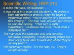 scientific writing hrp 21461