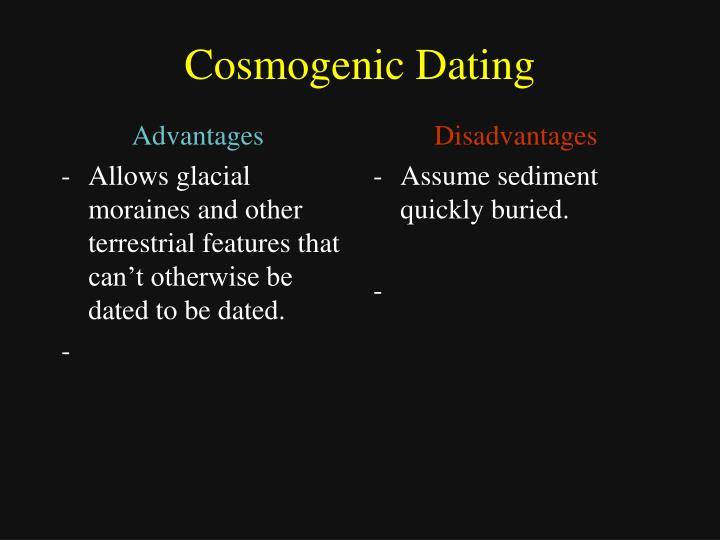 what are the benefits and disadvantages of radiometric dating
