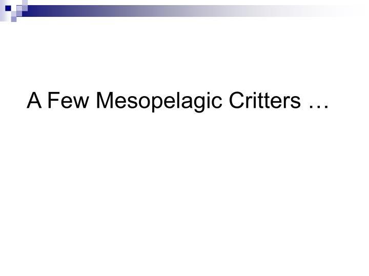 A Few Mesopelagic Critters …