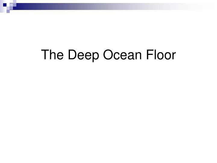 The Deep Ocean Floor