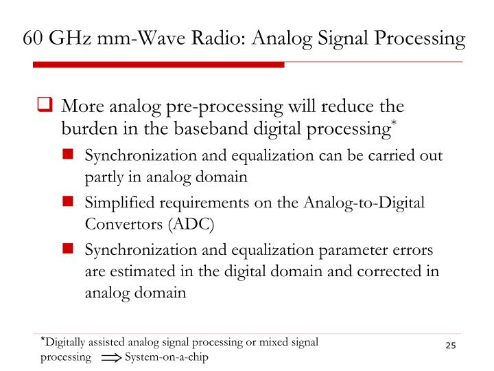 60 GHz mm-Wave Radio: Analog Signal Processing