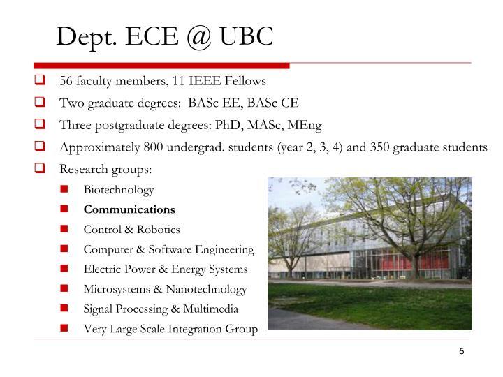 Dept. ECE @ UBC