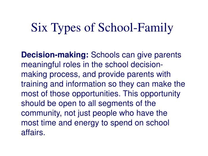 Six Types of School-Family