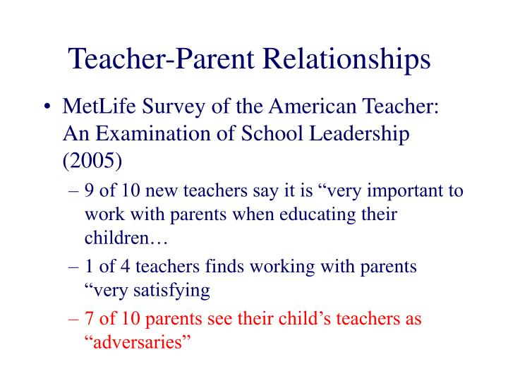 Teacher-Parent Relationships
