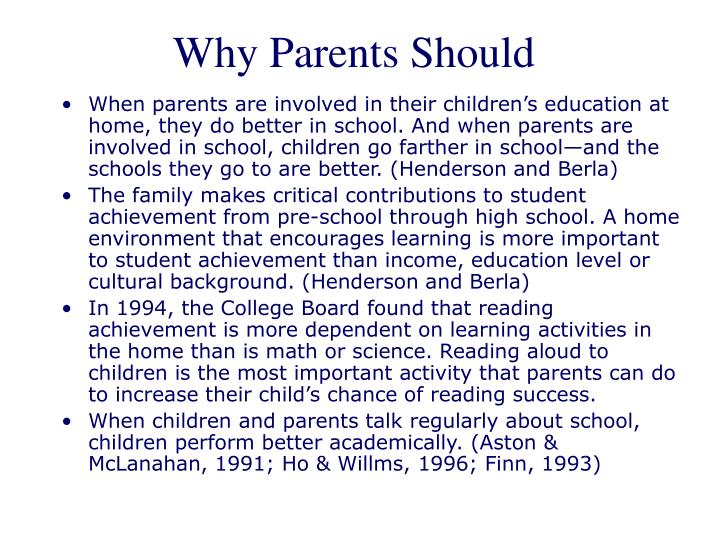 Why Parents Should