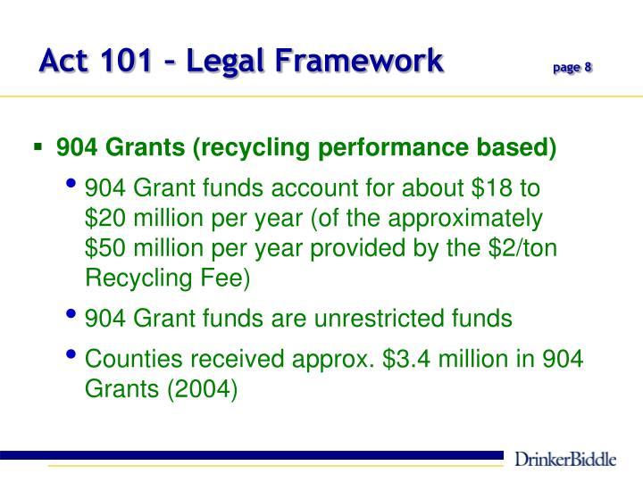 Act 101 – Legal Framework