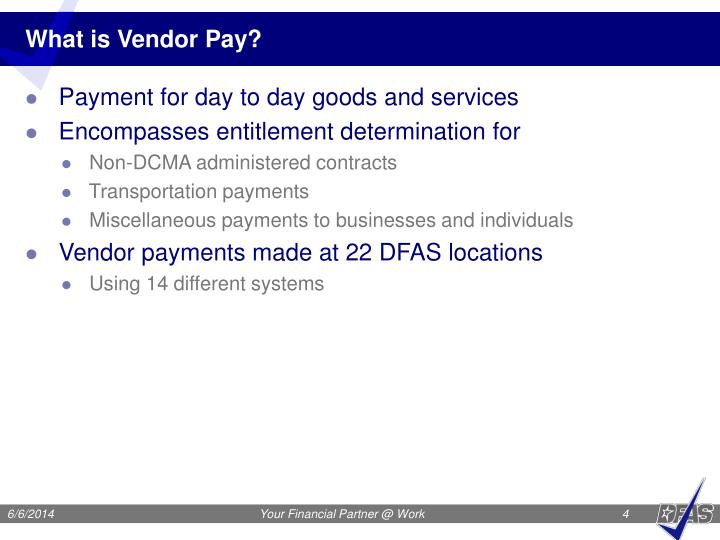 What is Vendor Pay?