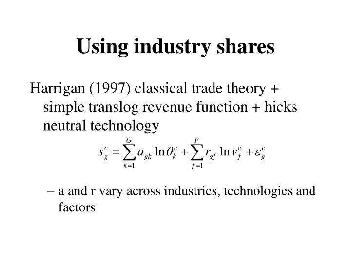 Using industry shares
