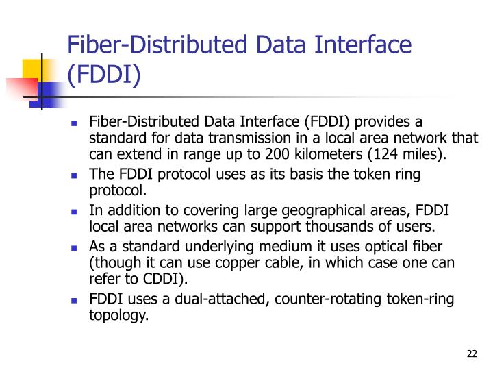 Fiber-Distributed Data Interface (FDDI)