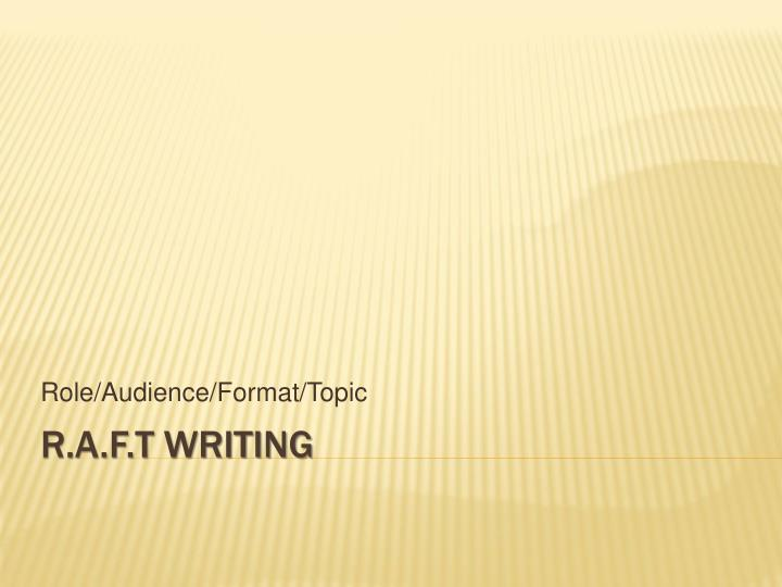 role audience format topic n.