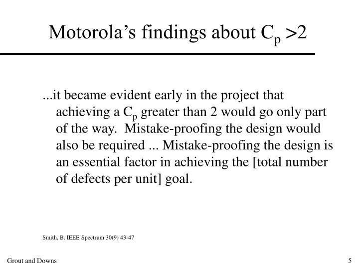 Motorola's findings about C