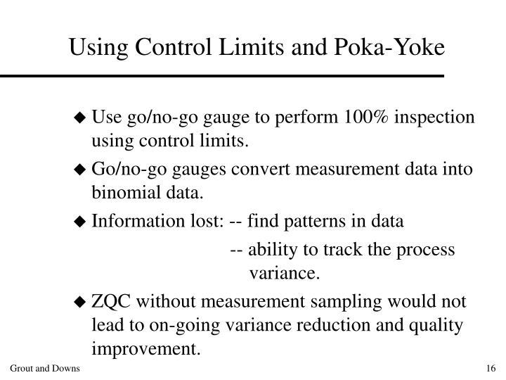 Using Control Limits and Poka-Yoke
