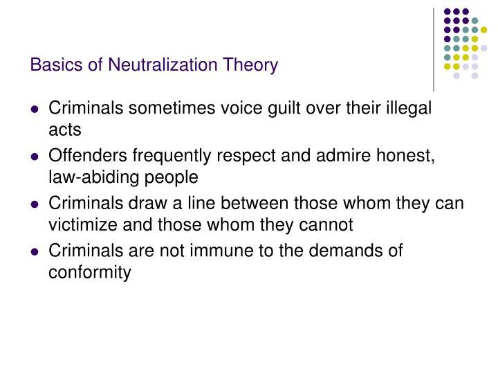 Basics of Neutralization Theory