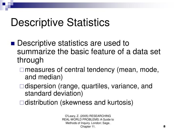 Descriptive Statistics