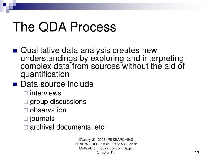 The QDA Process