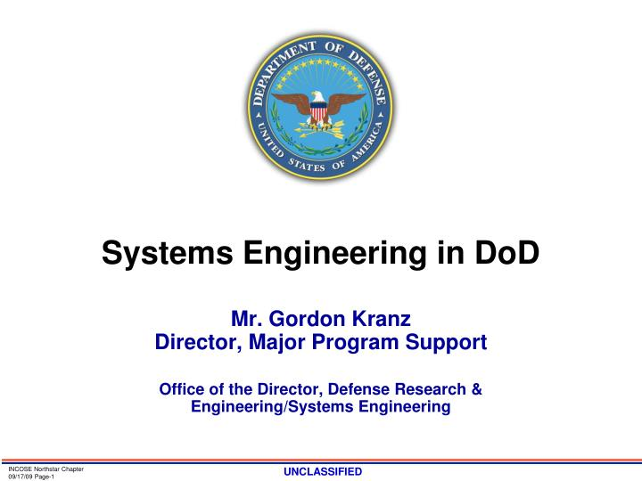 systems engineering in dod n.