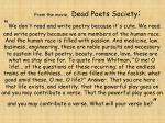 from the movie dead poets society