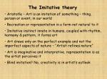 the imitative theory