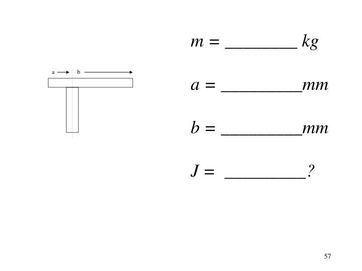 m = ________ kg