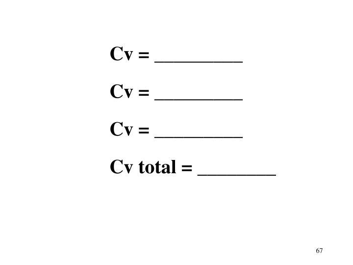Cv = _________