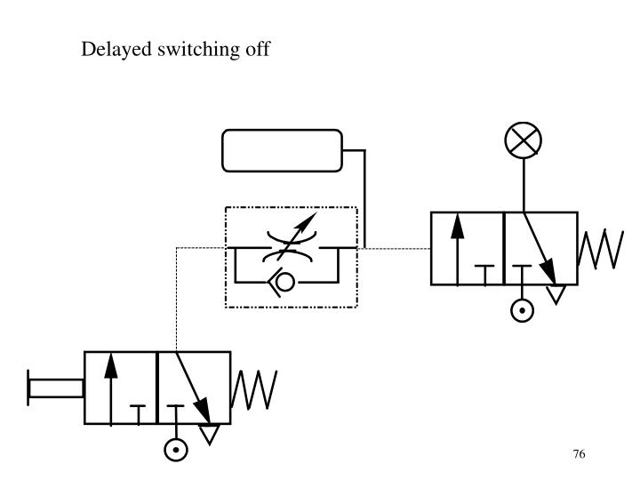 Delayed switching off