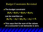 budget constraints revisited4