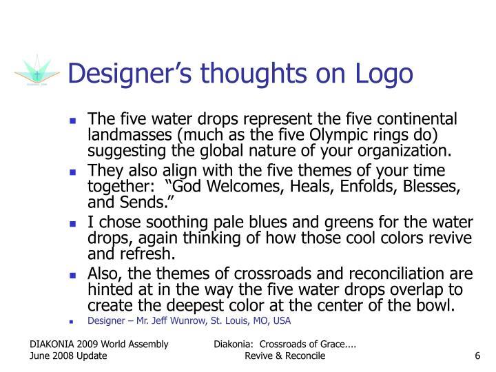 Designer's thoughts on Logo