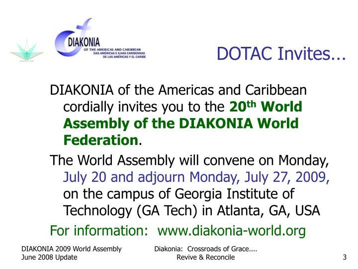 Dotac invites