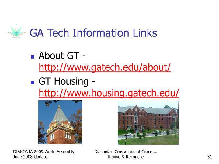 GA Tech Information Links