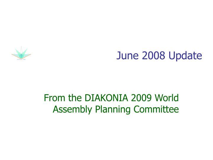 June 2008 update