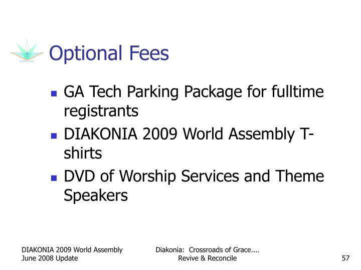 Optional Fees