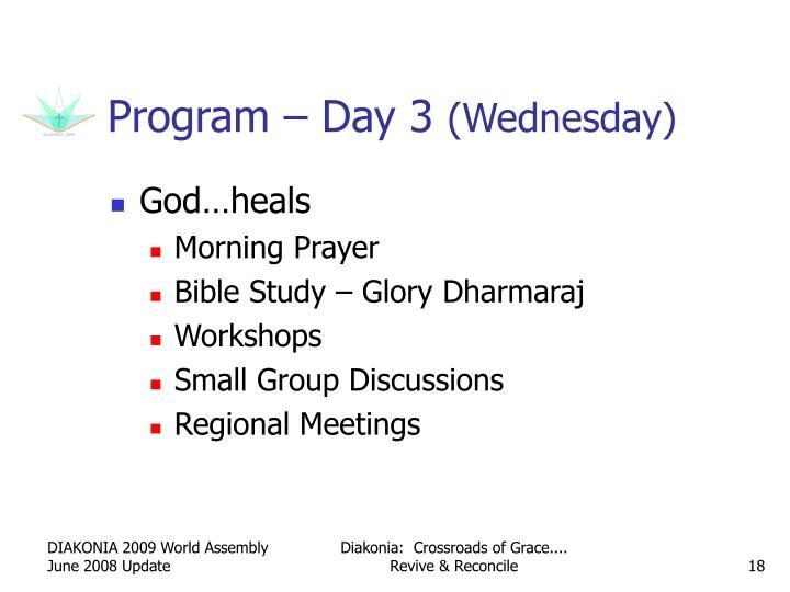 Program – Day 3