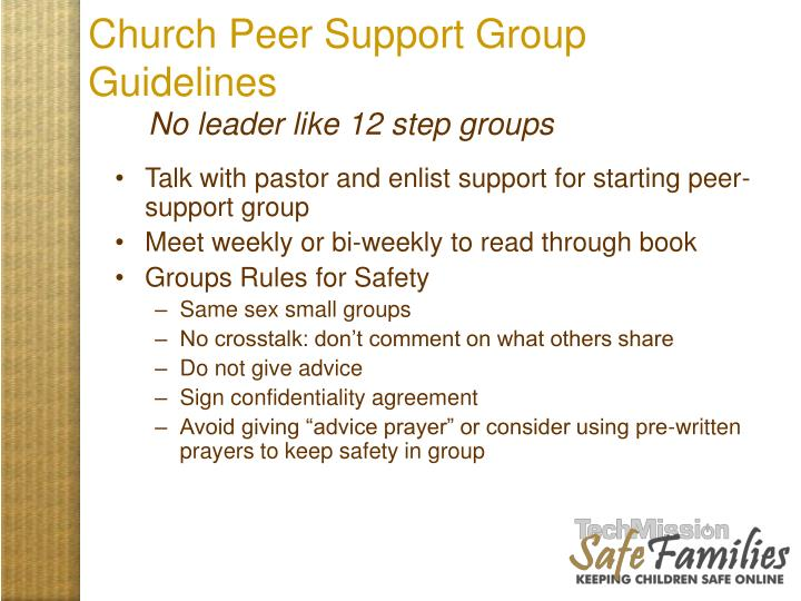 Church Peer Support Group Guidelines
