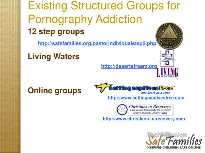 Existing Structured Groups for Pornography Addiction