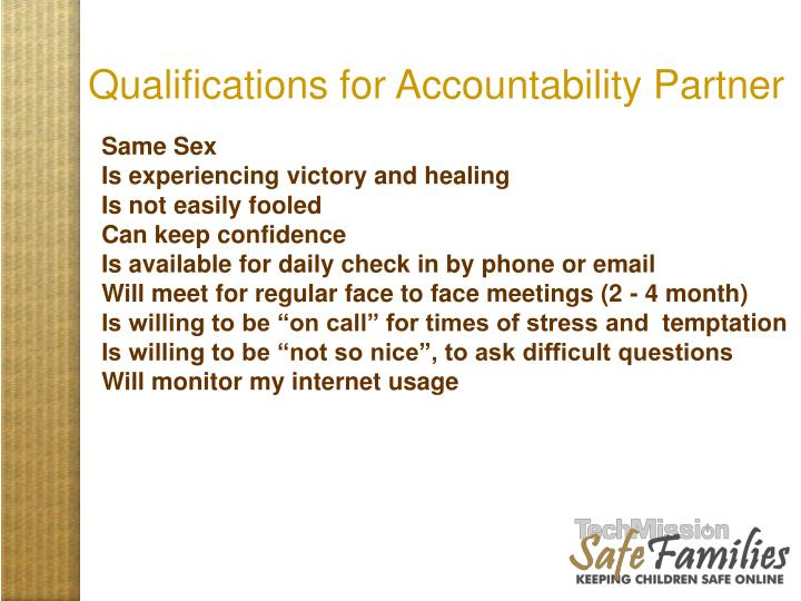 Qualifications for Accountability Partner