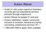 autism waiver