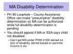 ma disability determination