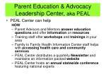 parent education advocacy leadership center aka peal1