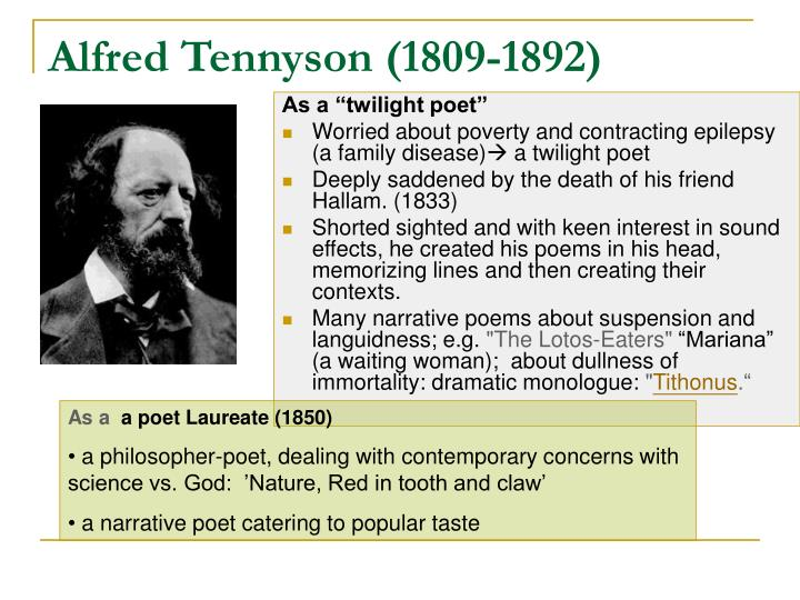 an explication of tennysons tithonus essay Essays - largest database of quality sample essays and research papers on tithonus tennyson analysis.