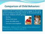 comparison of child behaviors