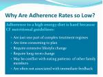 why are adherence rates so low