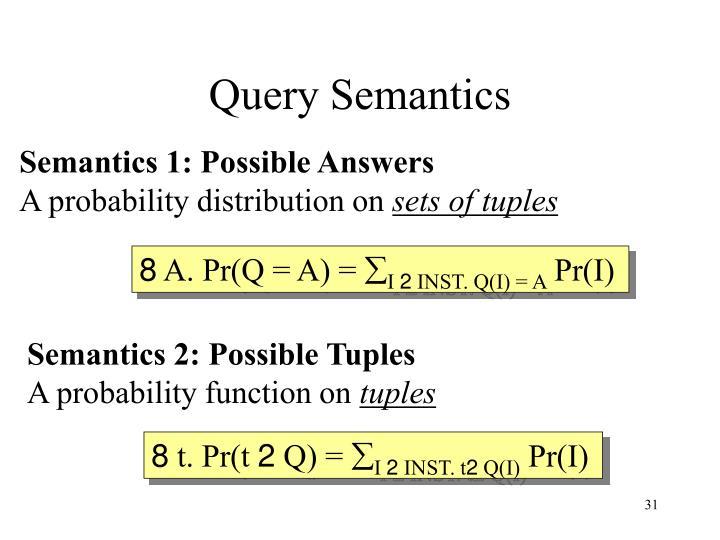 Query Semantics