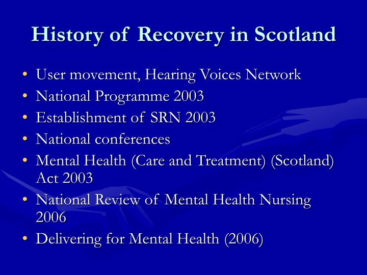 History of recovery in scotland