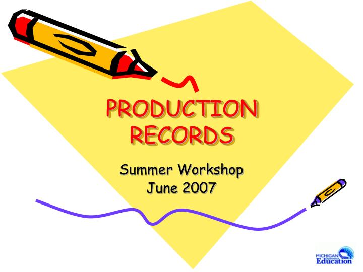 production records n.