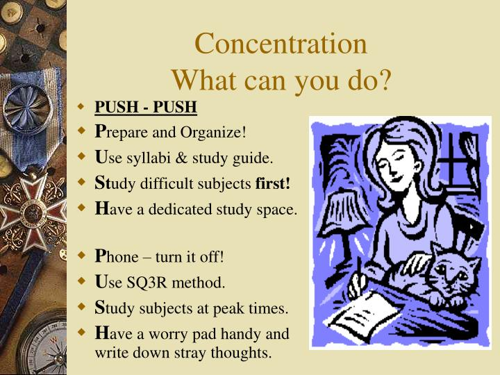 Concentration what can you do